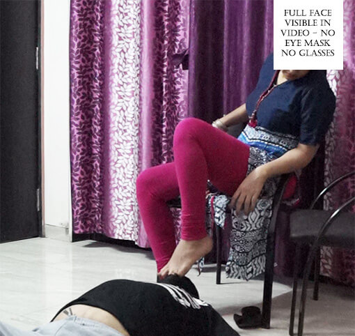 Indian femdom abusing her white slave